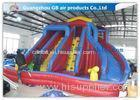 Exciting 3 Lanes Backyard Inflatable Water Slides With Swimming Pool