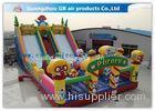 Waterproof Pororo Inflatable Double Slip And Slide Inflatable Fairyland Park For Playing