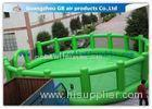 Green Round Inflatable Sports Games / Inflatable Baseball Field for Outdoor Events