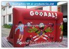 Red Funny Boys Inflatable Football Game / Inflatable Sports Arena For Ball Shooting