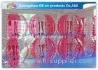 Pink Human Inflatable Bubble Ball / Inflatable Ball Suit Soccer For Rental Business