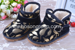 Feather Print Upper Children Boots