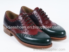 wholesale new style office lace up patch color men shoes