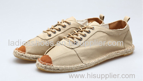High Quality Comfortable men line-soled canvas shoe