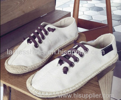 New Fashion Canvas men shoe/ line-soled canvas shoes