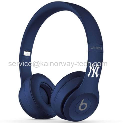 Beats by Dr.Dre Solo2 Wireless MLB Edition Yankees On-Ear Headphones Matte Blue