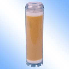 Resin water filter cartridge