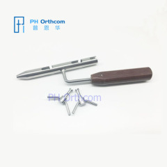 Wire Tighter with Handle with two pegs small Veterinary Orthopedic Instrument