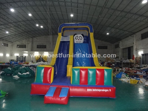Cute Panda Bouncy Castle Inflatable Slide
