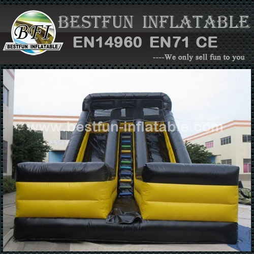 Black commercial inflatable dry slides