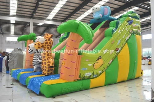 Jungle Safari Inflatable Slide Combo