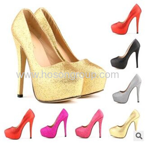 Multi color rounted toe stiletto heel dress shoes