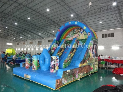 Snow white disney inflatable slide