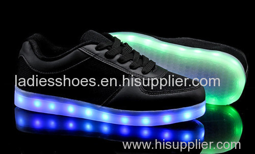 High quality OEM customize men luminous led light shoe