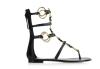 New style black flat sandals