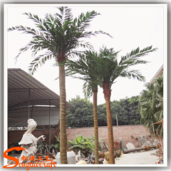 Fake coconut palm tree trunks waterproof artificial plastic coconut tree for sale