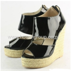 Fashion wedge knitting heel sandals