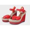 Wdege heel buckle strap sandals