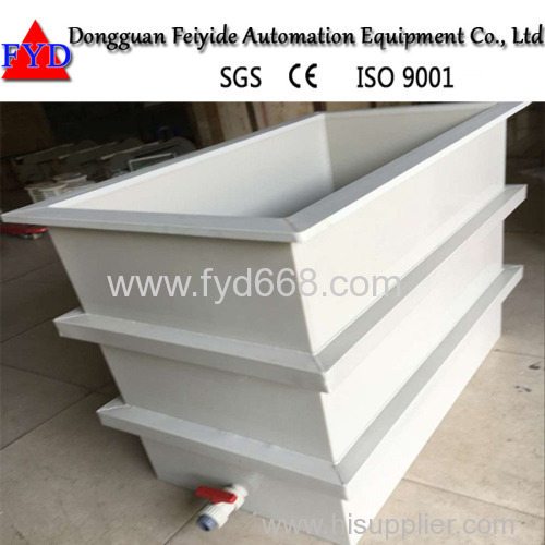Feiyide Electroplating Machine PP Tank/Galvanizing Tank with High Quality