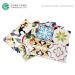 Flower Pattern Vintage Ceramic Arabesque Backsplash Tile