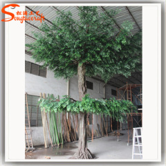 artificial green leaves large outdoor tree ficus plant banyan trees customized