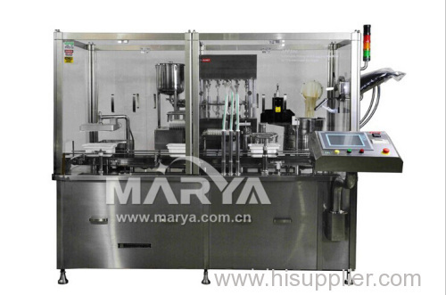 Pharmaceutical syringe filling plugging machine