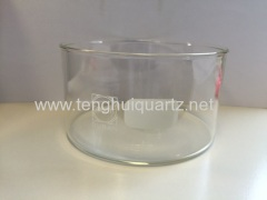 cylinder shape quartz crucible