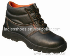PU leather safety work men lace shoes