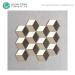 Porcelain Glazed Floor Mosaic Art Design Diamond Shaped Cube 3d Marble Mosaic Tiles