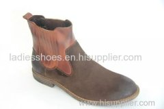 wholesale chinese fashion flat men leather boots