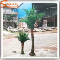 height green leaves artificial fiberglass palm trees for garden decoration