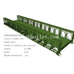 double row single layer reinforce