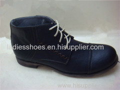 fashion costomed round toe flat business men boots