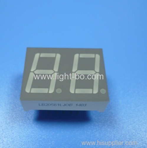 0.56  common cathode super greeen dual digit led 7 segment displays