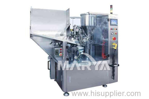 Automatic tube filler used in pharmacy food and cosmetics industries