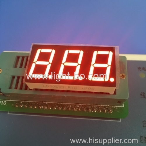 Ultra bright blue 3 digit common cathode 0.56  7 segment led display for digital indicator