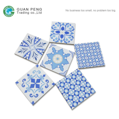 Chinese Blue White Commercial Restaurant Kitchen Tile Ceramic Tiles Floor Prices