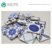 Chinese Blue White Commercial Restaurant Kitchen Tile Ceramic Tiles Floor Prices