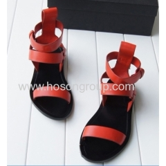 Ankle strap flat heel shoes