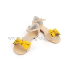 New style bowtie buckle strap flat sandals
