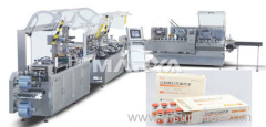 Vial Blister packing and Cartoning packaging line