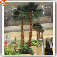 Made in China cheap large fiberglass washingtonia robusta palm tree for sale garden decoration outdoor