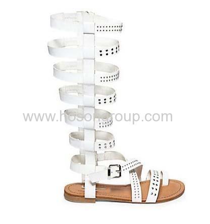 Gladitor open toe sling back flat sandals