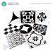 Classics Decorative 300X300 Black And White European Ceramic Floor Wall Tiles