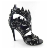 Fashion hollow-out zip high heel shoes