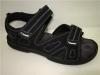 latest fashion hook loop velcro beach sandles men casual shoes