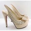 Studs sling back elastic band sandals