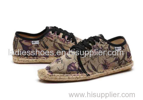 cheap chinese printed espadrille canvas fashion men shoe
