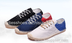 canvas ramie sole shoes patch color fashion men casual shoe