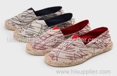 customed design line-soled canvas shoe for men
